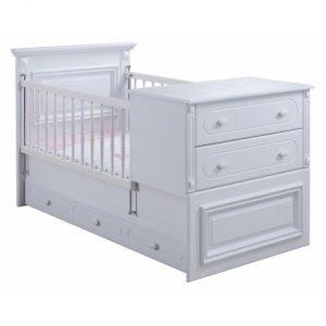 تخت خواب نوزاد دو منظوره آپادانا مدل ریتا
