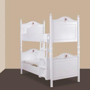 فروش تخت خواب چوبی دو طبقه کودک آپادانا مدل رز