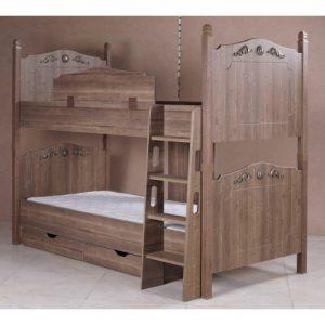 تخت خواب دو طبقه کودک و نوجوان چوبی کینگ