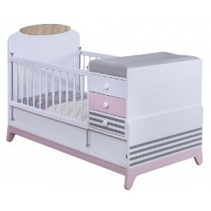 تخت چوبی نوزاد دو منظوره آپادانا مدل دلاریس