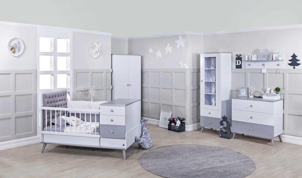 سرویس نوزاد لیوا سفید نقره ای روشن